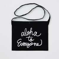 aloha to everyone サコッシュ ブラック