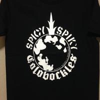 「コロボックルズ」 × 「SPICY SPIKY」 コラボTシャツ BLACK