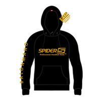 SPIDERハンドボールフーデッドパーカ SP-SPW02  ブラック×ゴールド