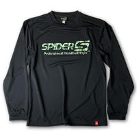 SPIDERドライL/STシャツ ブラック×ドット迷彩柄/アウトレット商品