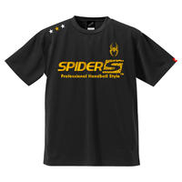 REAL SPIDERハンドボールTシャツ SP-T03   ブラック×ゴールド