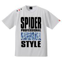 REAL SPIDERハンドボールTシャツ  SP-T01   ホワイト×迷彩柄ブルー