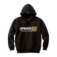 SPIDERハンドボールフーデッドパーカ SP-SPW01  ブラック×ホワイト×イエロー