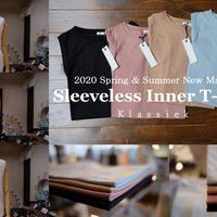 Klassiek  2020春夏新素材  コットンシルク  ノースリーブT-Shirt