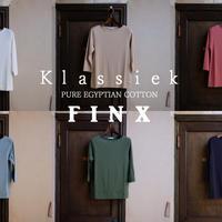 Klassiek 高品質エジプト綿フィンクス  七分袖ボートネックTシャツ