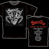 "SACRIFICE ""Crest Of Black"" T-shirt (Red)"