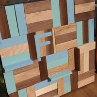 天然木端材を使ったデザインパネル製作キット