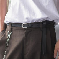 OILED LEATHER NARROW BELT L246