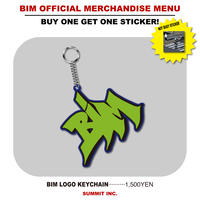 BIM LOGO KEYCHAIN【NOT BUSYステッカー付】