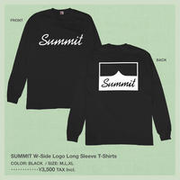 SUMMIT W-Side Logo Long Sleeve T-Shirts (Black)