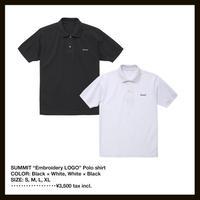 SUMMIT ロゴ刺繍ポロシャツ