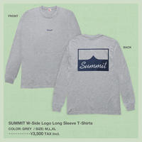 SUMMIT W-Side Logo Long Sleeve T-Shirts (Grey)