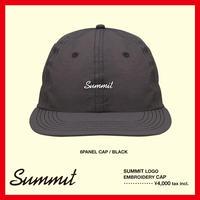 SUMMIT LOGO刺繍 6パネル CAP(BLACK)