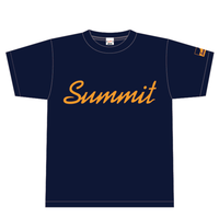 SUMMIT Label Logo T-Shirts (Navy × Orange)
