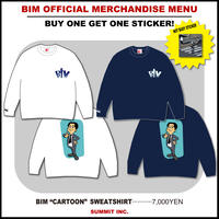 "BIM ""CARTOON"" SWEATSHIRT【NOT BUSYステッカー付】"