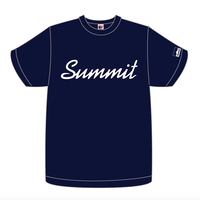 SUMMIT Label Logo T-shirt Navy