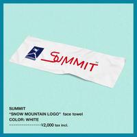 "SUMMIT ""雪山ロゴ"" ガーゼタオル"