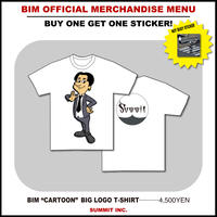 "BIM ""CARTOON"" BIG LOGO T-SHIRT【NOT BUSYステッカー付】"