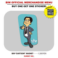 "BIM ""CARTOON"" MAGNET【NOT BUSYステッカー付】"
