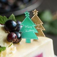 XH012【クリスマスピック・箔押しシリーズ】Merry Christmas Tree<グリーン>100枚入り