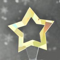 XT004【透明クリアシリーズ】Star<ホロゴールド>100枚入り