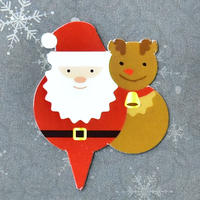 XS003【クリスマスピック・スタンダードシリーズ】Christmas Santa<レッド>100枚入り