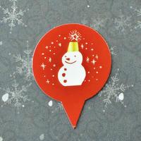 XS004【クリスマスピック・スタンダードシリーズ】Christmas Snowman<サークル>100枚入り