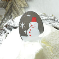 XF001【クリスマスピック・ホイルシリーズ】Snowman<シルバー>100枚入り
