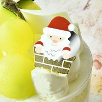 XH014【クリスマスピック・箔押しシリーズ】Santa <煙突>100枚入り