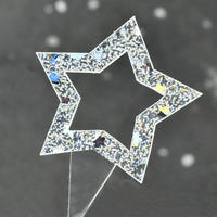 XT003【透明クリアシリーズ】Star<ホログラム>100枚入り