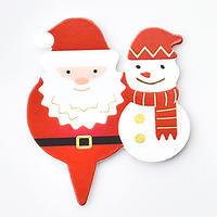 XC015【クリスマスピック・箔押しシリーズ】Santa Snowman<レッド>100枚入り