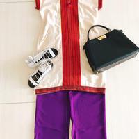 Oriental mood DRESS [BEIGE:RED] THAILAND