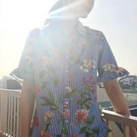 FLOWER PRINTED BLOUSE (BlUE.ver)