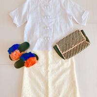 Summer Linen Qipao[WHITE] / Thailand