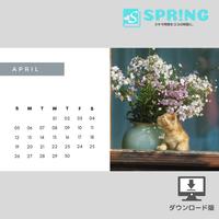 にゃんこ♡カレンダー (2020年4月 )