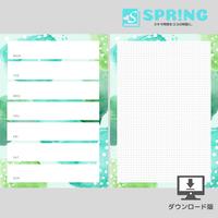 【手帳リフィル】週間レフト A5(こもれび)