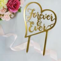 レターケーキトッパー™ Forever & Ever Gold