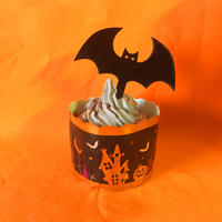 Halloweenケーキトッパー【コウモリ】