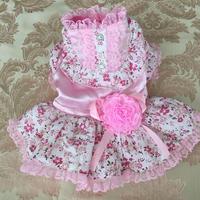 小花レースワンピース ピンク