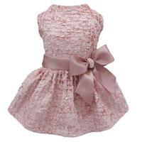 刺繍リボンドレス ピンク