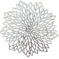 フラワーランチョンマット【silver】