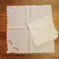 white napkins 2p set