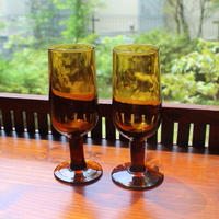 amber sherry glass 2 set