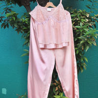 pink silk pajamas
