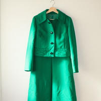 designers 2 piece set matching dress and jacket 1960s
