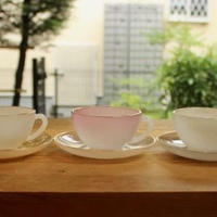 arcopal opale glass cup and saucer set