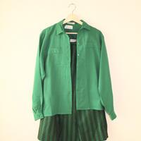 jaeger green skirt + shirts 2p