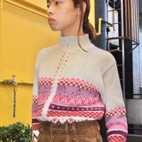 tu multi pink color zip up sweater