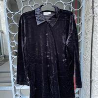 velour black  shirt