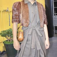 40's mink short fur bolero
